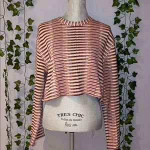 Woman's UO Multicolor Striped Crop Sweater M